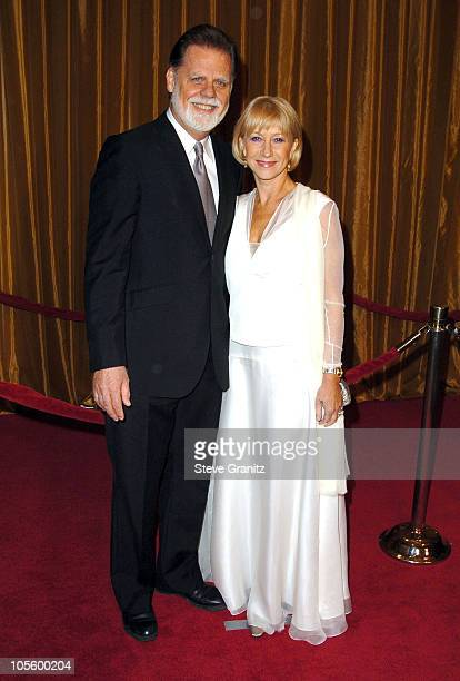 Taylor Hackford and Helen Mirren during 57th Annual Directors Guild of America Awards Arrivals at Beverly Hilton Hotel in Beverly Hills California...