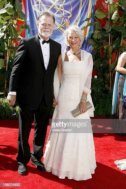 Taylor Hackford and Helen Mirren during 58th Annual Primetime Emmy Awards Arrivals at Shrine Auditorium in Los Angeles California United States
