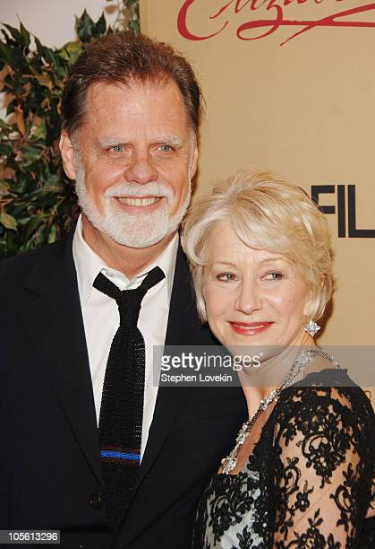 Taylor Hackford and Helen Mirren during Elizabeth I New York City Premiere Arrivals at MoMA in New York City New York United States