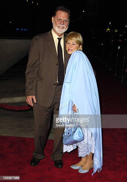 Taylor Hackford and Helen Mirren during Genius A Night For Ray Charles Arrivals at Staples Center in Los Angeles California United States