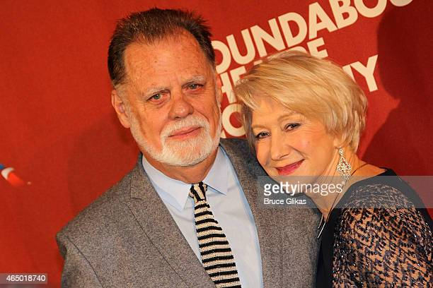 Taylor Hackford and Honoree Dame Helen Mirren pose at The Roundabout Theatre Company's 2015 Spring Gala at the Grand Ballroom of The Waldorf Astoria...