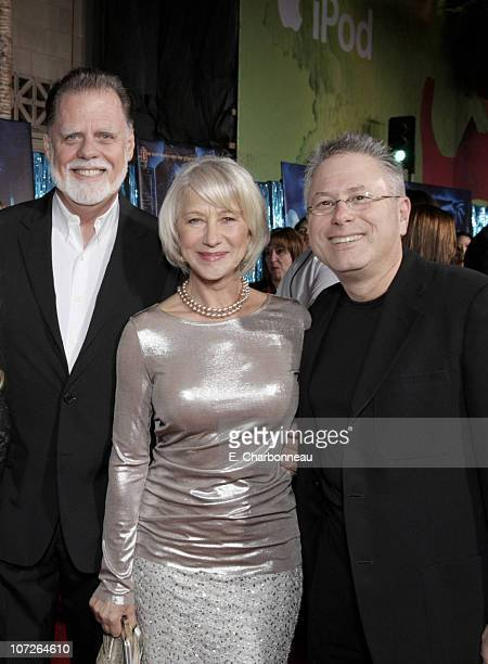 Taylor Hackford Helen Mirren and Composer Alan Menken at the World Premiere of Walt Disney Pictures' ENCHANTED at the El Capitan Theatre on November...