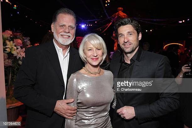 Taylor Hackford Helen Mirren and Patrick Dempsey at the World Premiere of Walt Disney Pictures' ENCHANTED at the El Capitan Theatre on November 17...