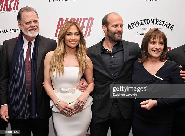 Taylor Hackford Jennifer Lopez Jason Statham and Patti LuPone attend a screening of Parker hosted by FilmDistrict The Cinema Society L'Oreal Paris...