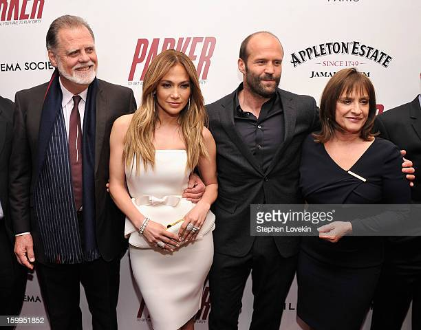 Taylor Hackford Jennifer Lopez Jason Statham and Patti LuPone attend a screening of 'Parker' hosted by FilmDistrict The Cinema Society L'Oreal Paris...