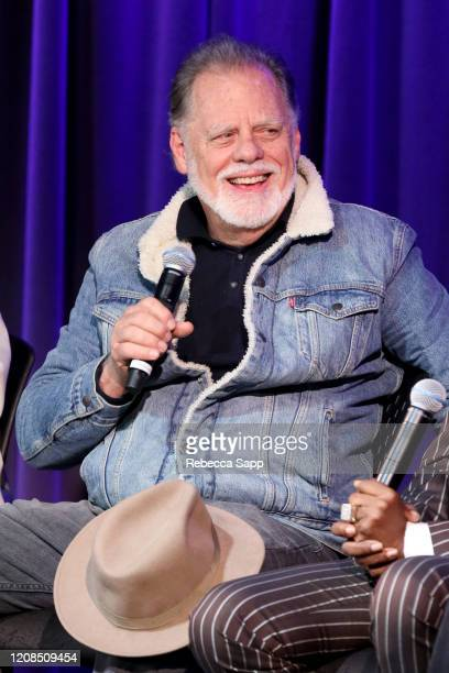 Taylor Hackford speaks onstage at Reel To Reel Chuck Berry Brown Eyed Handsome Man at the GRAMMY Museum on February 24 2020 in Los Angeles California
