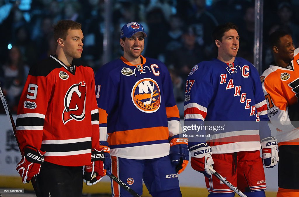 huge discount 79711 87fec Taylor Hall of the New Jersey Devils, John Tavares of the ...