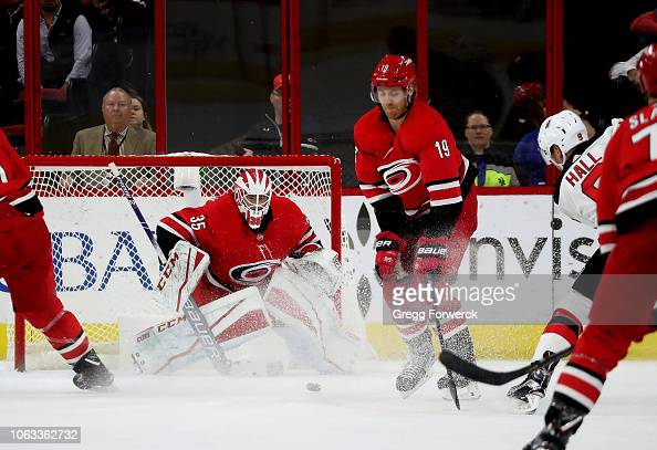 huge selection of 66ba2 977ba Taylor Hall of the New Jersey Devils takes a shot on goal as ...