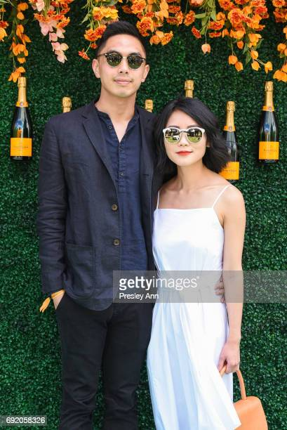Taylor Hang and Alice Gao attend The Tenth Annual Veuve Clicquot Polo Classic Arrivals at Liberty State Park on June 3 2017 in Jersey City New Jersey