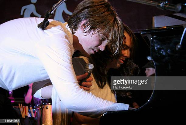 Taylor Hanson with special guest Andrew WK during Hanson in Concert with Special Guest Andrew WK at The Supper Club in New York City March 6 2007 at...