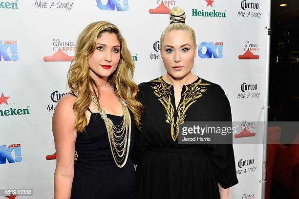 Taylor Hasselhoff and Hayley HAsselhoff attend OK TV Awards Party at Sofitel Hotel on August 21 2014 in Los Angeles California