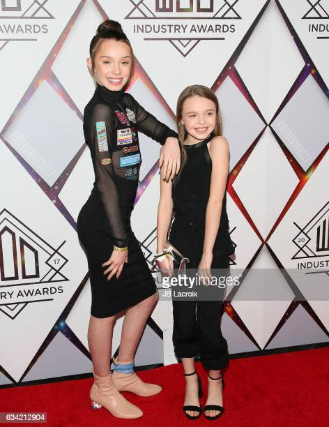 Taylor Hatala and Reese Hatala attend the World Of Dance Industry Awards on February 7 2017 in Los Angeles California