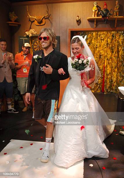 """Taylor Hawkins and Heather Leccese during Foo Fighters Take Over MTV2 - """"24 Hours of Foo"""" - June 11, 2005 at MTV Building in New York City, New York,..."""
