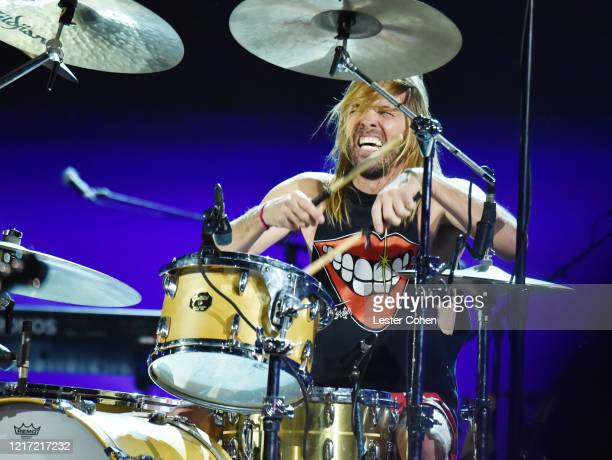 Taylor Hawkins of Foo Fighters performs during the 62nd Annual GRAMMY Awards Let's Go Crazy The GRAMMY Salute To Prince on January 28 2020 in Los...