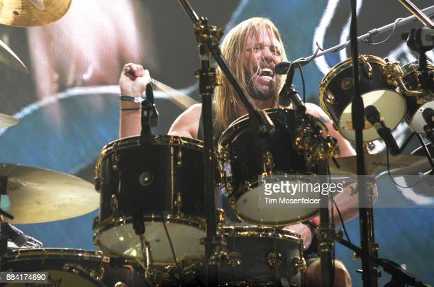 Taylor Hawkins of Foo Fighters performs in support of the band's Concrete and Gold release at Save Mart Center on December 1 2017 in Fresno California