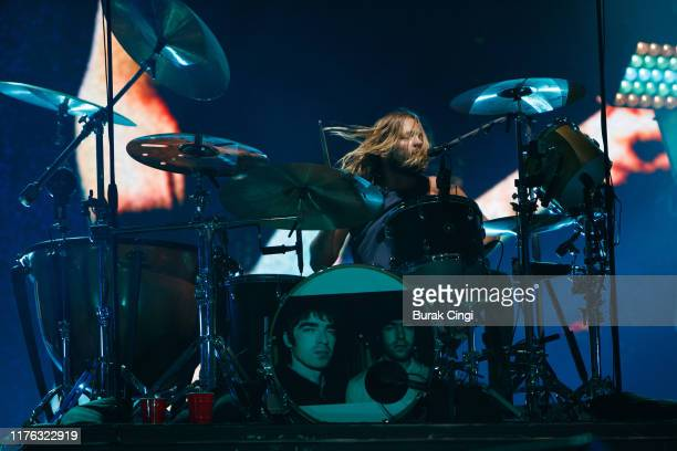 Taylor Hawkins of Foo Fighters performs live on the Main Stage during day three of Reading Festival 2019 at Richfield Avenue on August 25 2019 in...
