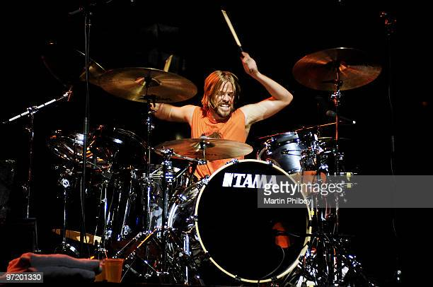 Taylor Hawkins of Foo Fighters performs on stage at Rod Laver Arena on 7th December 2005 in Melbourne, Australia.