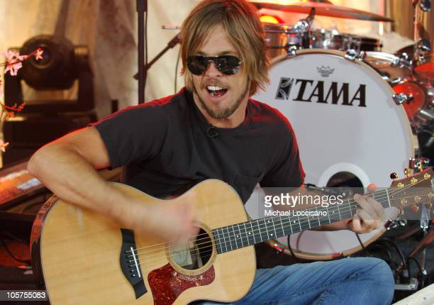 """Taylor Hawkins of the Foo Fighters during Foo Fighters Take Over MTV2 - """"24 Hours of Foo"""" - June 11, 2005 at MTV Building in New York City, New York,..."""