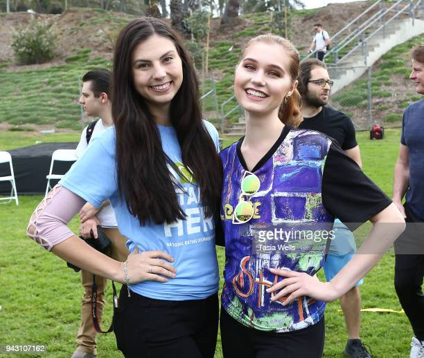 Taylor Hay and Serena Laurel attend the Los Angeles NEDA Walk on April 7 2018 in Santa Monica California