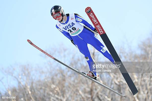 Taylor Henrich of Canada competes in the Normal hill Individual during the FIS Women's Ski Jumping World Cup Sapporo at the Miyanomori Ski jump...