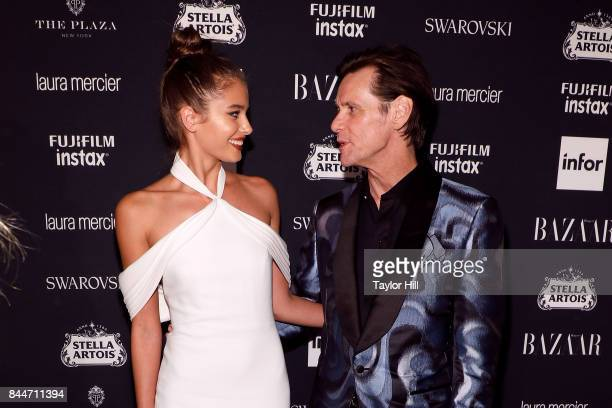Taylor Hill and Jim Carrey attend the 2017 Harper ICONS party at The Plaza Hotel on September 8 2017 in New York City