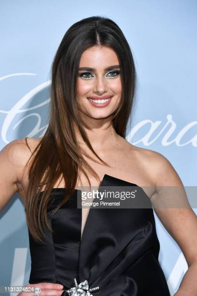 Taylor Hill arrives at the 2019 Hollywood For Science Gala at Private Residence on February 21 2019 in Los Angeles California