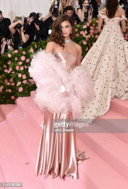 Taylor Hill arrives at the 2019 Met Gala Celebrating Camp Notes On Fashion at The Metropolitan Museum of Art on May 6 2019 in New York City