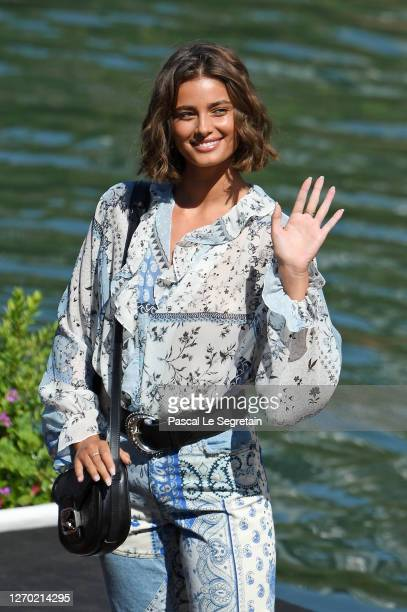 Taylor Hill arrives at the Excelsior during the 77th Venice Film Festival on September 02, 2020 in Venice, Italy.