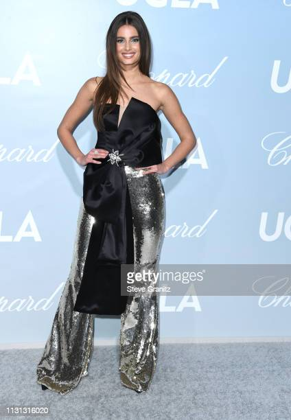 Taylor Hill arrives at the Hollywood For Science Gala at Private Residence on February 21, 2019 in Los Angeles, California.