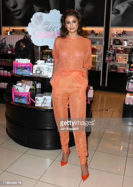 """Taylor Hill attends Angel Taylor Hill Introduces The New """"Tease Dreamer"""" Fragrance Collection At Victoria's Secret at Victoria's Secret Beverly..."""
