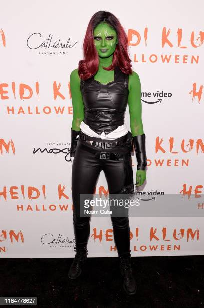 Taylor Hill attends Heidi Klum's 20th Annual Halloween Party presented by Amazon Prime Video and SVEDKA Vodka at Cathédrale New York on October 31,...