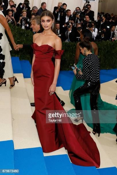 Taylor Hill attends 'Rei Kawakubo/Commes Des Garcons Art of the InBetween' at Metropolitan Museum of Art on May 1 2017 in New York City