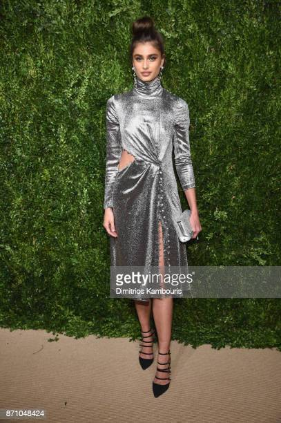 Taylor Hill attends the 14th Annual CFDA/Vogue Fashion Fund Awards at Weylin B Seymour's on November 6 2017 in the Brooklyn borough of New York City...