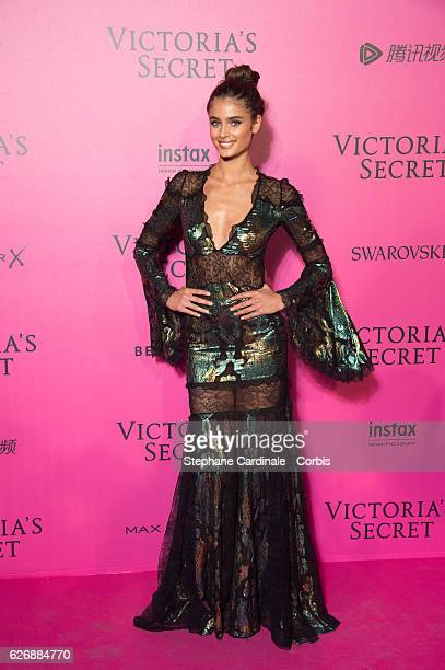 Taylor Hill attends the 2016 Victoria's Secret Fashion Show after party at Le Grand Palais on November 30 2016 in Paris France