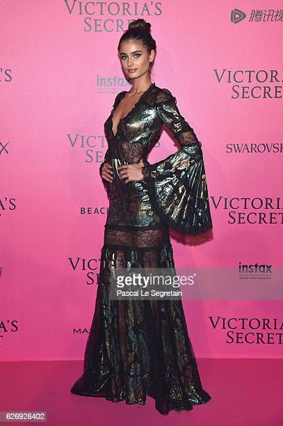 Taylor Hill attends the 2016 Victoria's Secret Fashion Show after party on November 30 2016 in Paris France