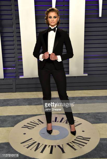 Taylor Hill attends the 2019 Vanity Fair Oscar Party hosted by Radhika Jones at Wallis Annenberg Center for the Performing Arts on February 24, 2019...