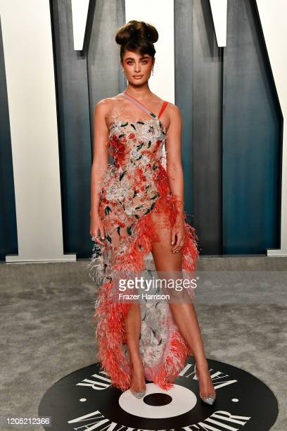 Taylor Hill attends the 2020 Vanity Fair Oscar Party hosted by Radhika Jones at Wallis Annenberg Center for the Performing Arts on February 09 2020...