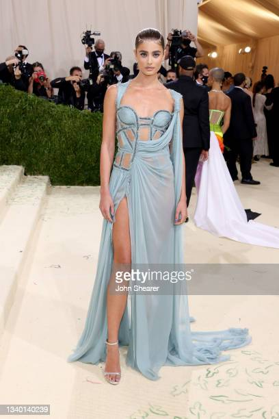 Taylor Hill attends The 2021 Met Gala Celebrating In America: A Lexicon Of Fashion at Metropolitan Museum of Art on September 13, 2021 in New York...