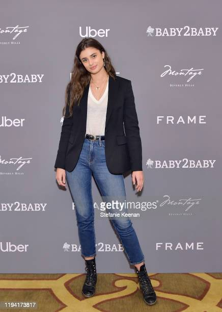 Taylor Hill attends The Baby2Baby Holiday Party Presented By FRAME And Uber at Montage Beverly Hills on December 15, 2019 in Beverly Hills,...