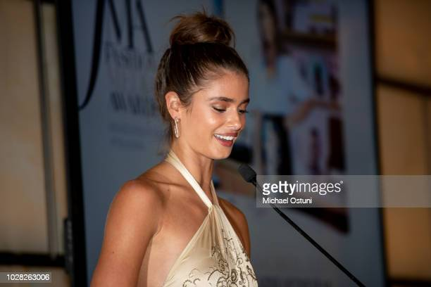 Taylor Hill attends The Daily Front Row 6th Annual Fashion Media Awards at Park Hyatt New York on September 6 2018 in New York City