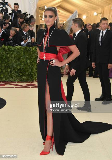 Taylor Hill attends the Heavenly Bodies Fashion The Catholic Imagination Costume Institute Gala at The Metropolitan Museum of Art on May 7 2018 in...