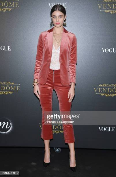 Taylor Hill attends the Irving Penn Exhibition Private Viewing Hosted by Vogue as part of the Paris Fashion Week Womenswear Spring/Summer 2018 on...