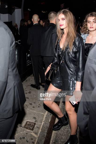 Taylor Hill attends the Rei Kawakubo/Comme des Garcons Art Of The InBetween Costume Institute Gala after party at 1 Oak on May 1 2017 in New York City