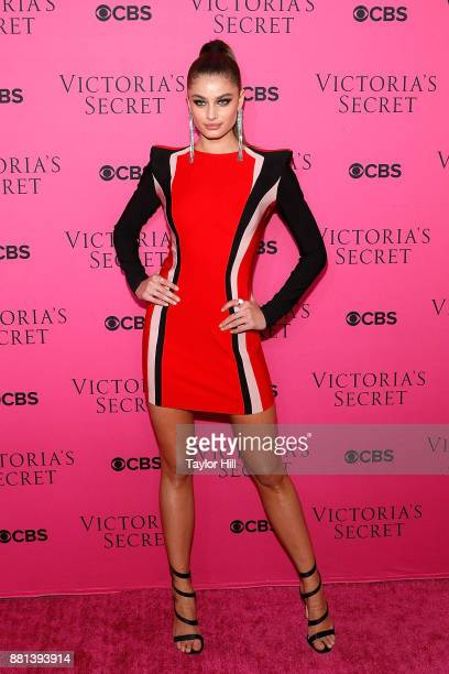 Taylor Hill attends the Victoria's Secret Viewing Party Pink Carpet celebrating the 2017 Victoria's Secret Fashion Show in Shanghai at Spring Studios...