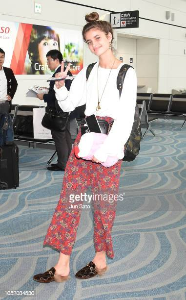 Taylor Hill is seen at Haneda Airport on October 13 2018 in Tokyo Japan