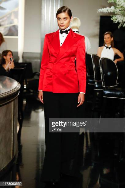 Taylor Hill walks the runway at the Ralph Lauren Fall 2019 Collection at William and Wall on September 07, 2019 in New York City.