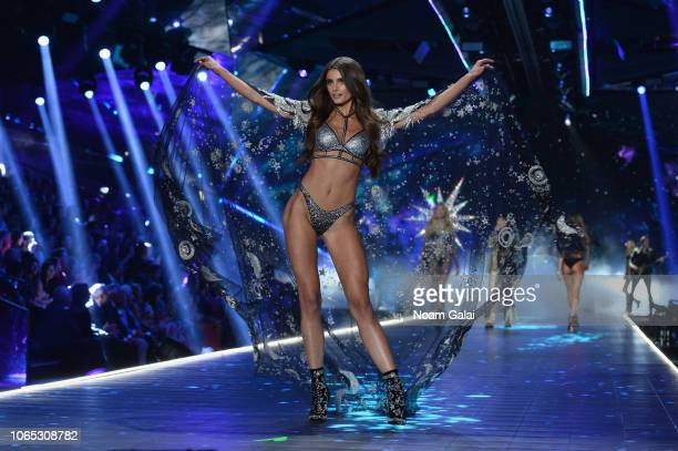 Taylor Hill walks the runway during the 2018 Victoria's Secret Fashion Show at Pier 94 on November 08 2018 in New York City