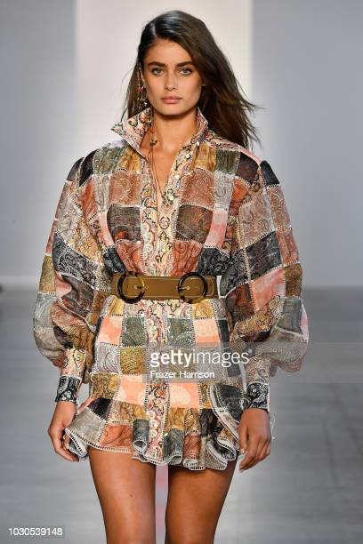 Taylor Hill walks the runway for Zimmermann during New York Fashion Week The Shows at Gallery I at Spring Studios on September 10 2018 in New York...