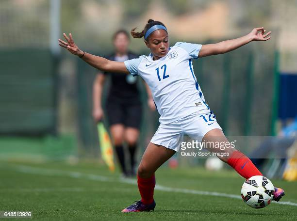 Taylor Hinds of England in action during the international friendly match between England Women U19 and Netherlands Women U19 at La Manga Club on...