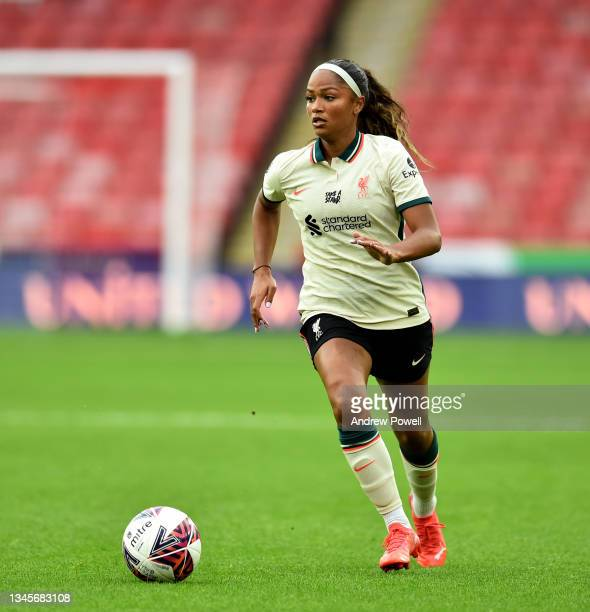 Taylor Hinds of Liverpool Women during the Barclays FA Women's Championship match between Sheffield United Women and Liverpool Women at Bramall Lane...